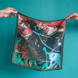 Habotai Silk Scarf | Hand-Stitched | Made to order