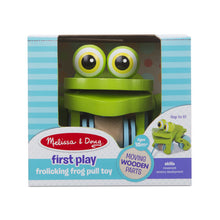 Load image into Gallery viewer, Melissa & Doug First Play -Frolicking Frog Pull Toy