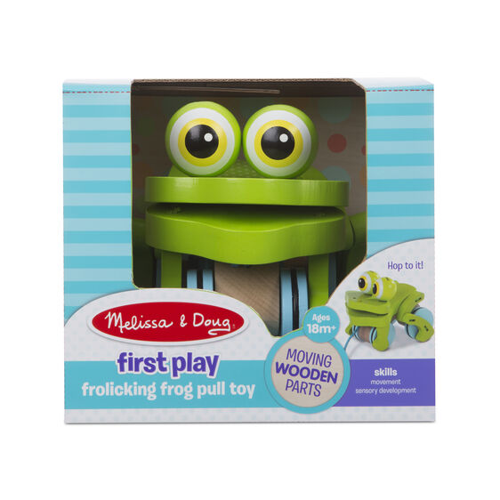 Melissa & Doug First Play -Frolicking Frog Pull Toy