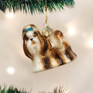 Old World Christmas Shih Tzu Ornament
