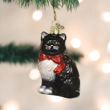 Old World Christmas Tuxedo Kitty Ornament