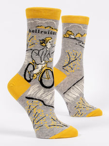 blue q Crew Socks -Hellraiser