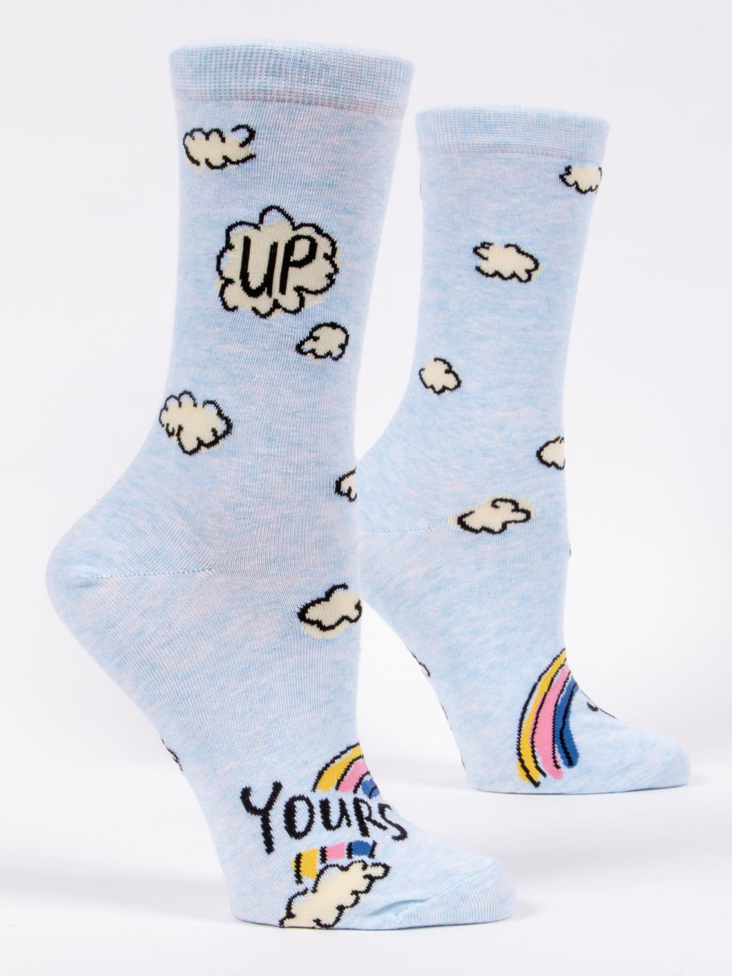 blue q Crew Socks -Up Yours
