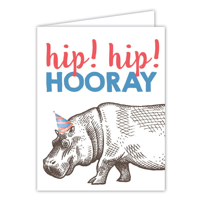 Hip Hip Hooray Birthday Greeting Card