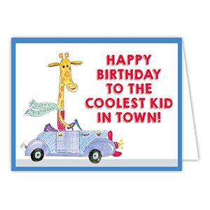 Happy Birthday to the Coolest Kid in Town! Greeting Card