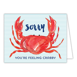 Sorry You're Feeling Crabby Greeting Card