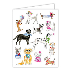 Dapper Dogs Greeting Card