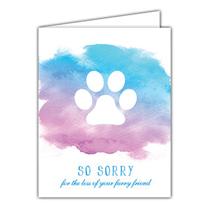 Sorry Loss of Furry Friend Greeting Card