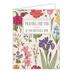 Praying for You Floral Greeting Card
