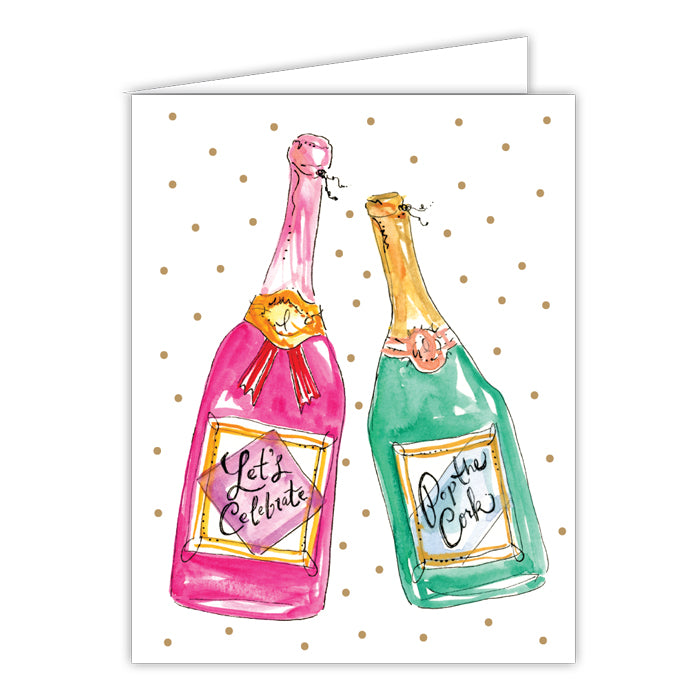 Let's Celebrate Champagne Greeting Card