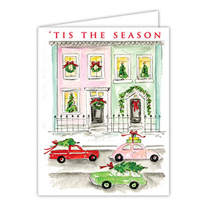 Tis the Season City Streets Christmas Greeting Card