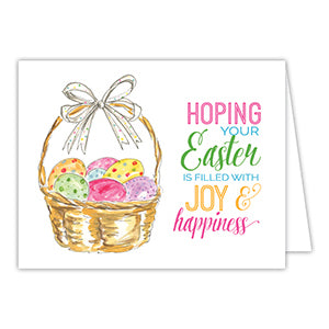 Hoping Your Easter is Filled With Joy & Happiness Greeting Card