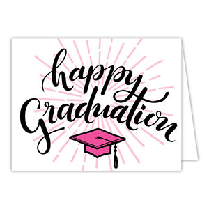 Happy Graduation Greeting Card -pink
