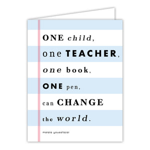 One Child One Teacher Greeting Card
