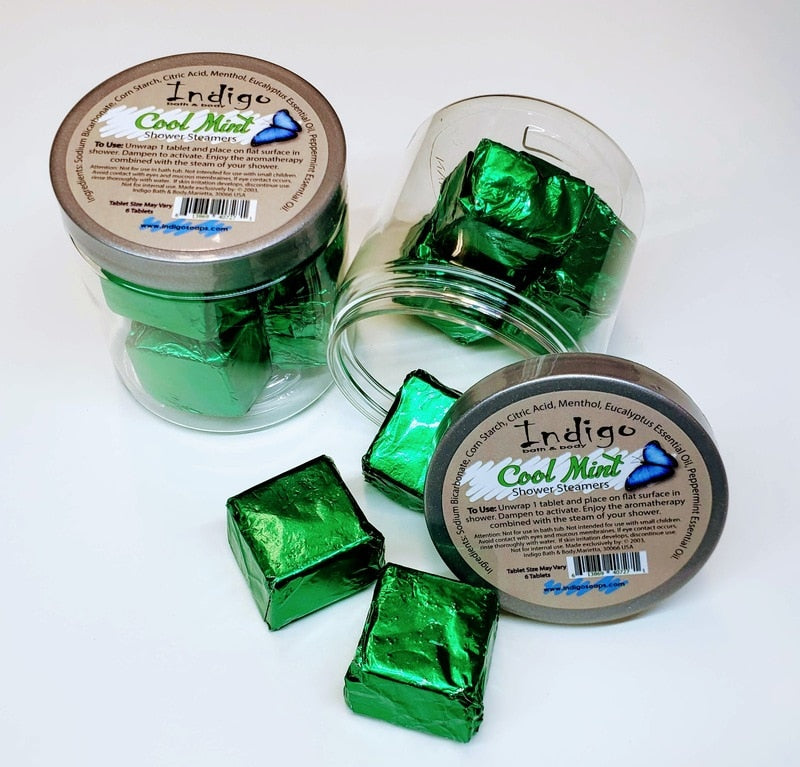 Indigo Shower Steamers -Cool Mint