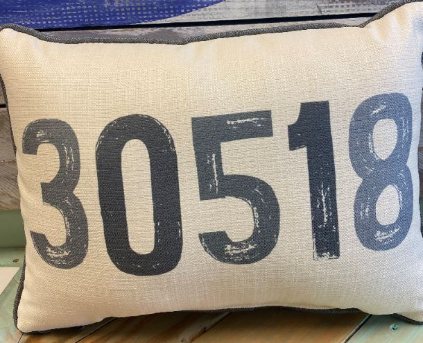 30518 Zip Code Throw Pillow