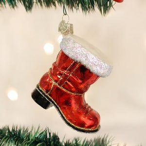 Old World Christmas Santa's Boot Ornament