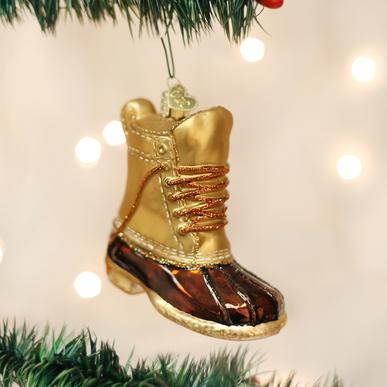 Old World Christmas Field Boot Ornament