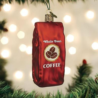 Old World Christmas Bag of Coffee Beans Ornament