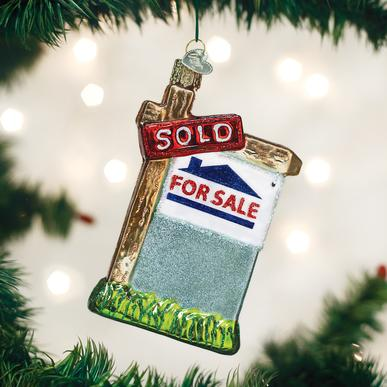 Old World Christmas Realty Sign Ornament