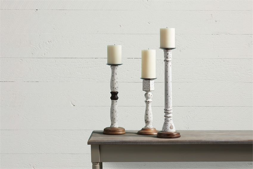 Thin Distressed Candlesticks