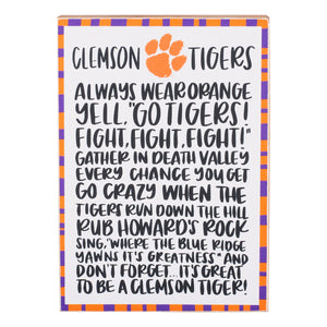 Collegiate Fan Block -Clemson