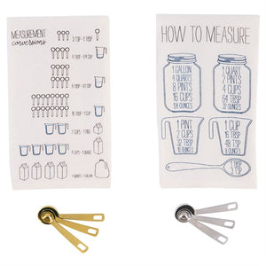 Tea Towel & Measuring Spoon Set