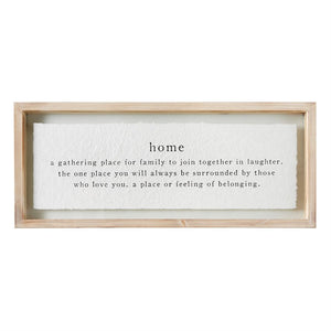 Home Definition Glass Plaque