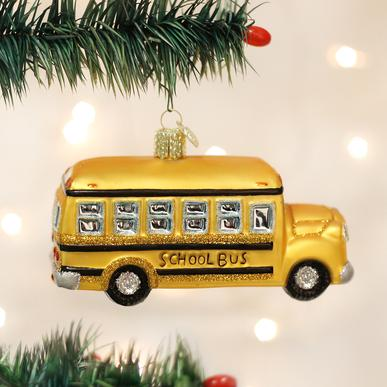 Old World Christmas School Bus Ornament