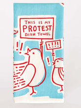 Load image into Gallery viewer, blue q Dish Towel -This Is My Protest