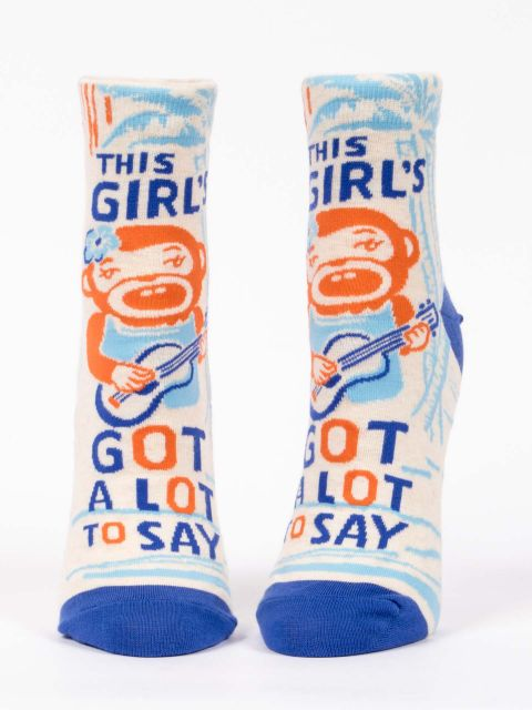 blue q Ankle Socks -Girls Got a Lot to Say