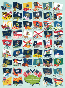 True South State Flags Puzzle