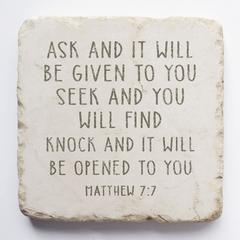 Small Scripture Block -Matthew 7:7