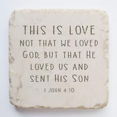 Small Scripture Block -1 John 4:10