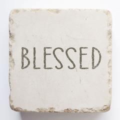Small Scripture Block -Blessed