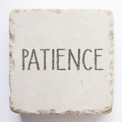 Small Scripture Block -Patience
