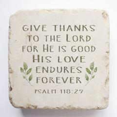 Small Scripture Block -Psalm 118:29