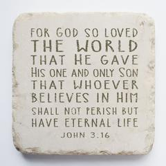 Small Scripture Block -John 3:16