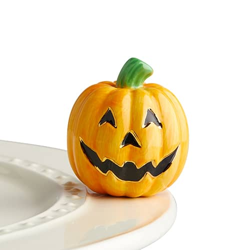 nora fleming mini -carved cutie (jack o'lantern)