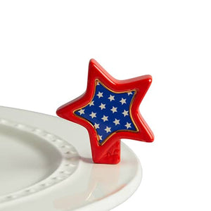 nora fleming mini -sparkly star (red, white & blue star)