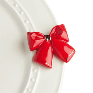 nora fleming mini -wrap it up! (red bow)