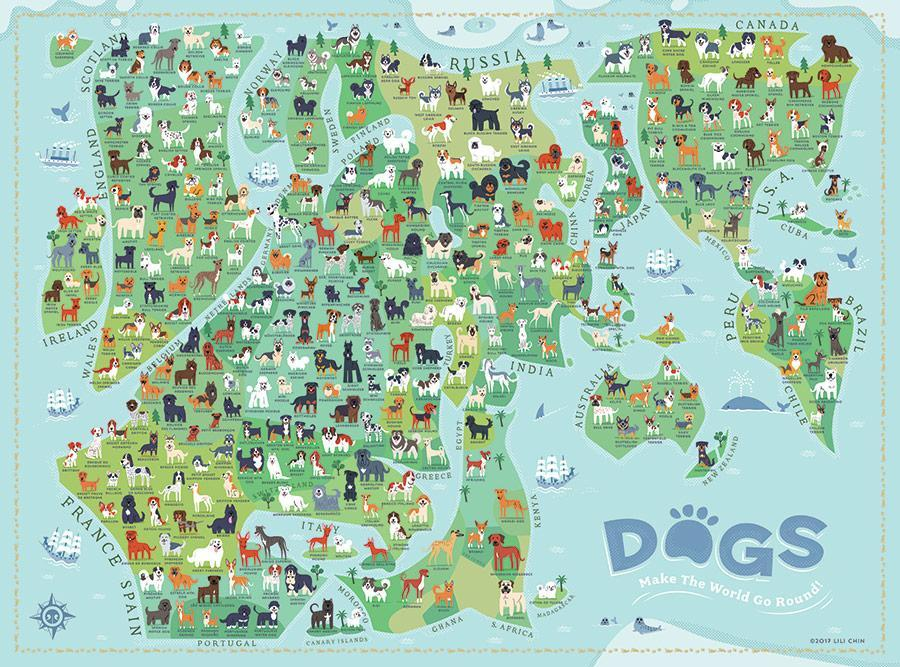 True South Dogs Around the World Puzzle