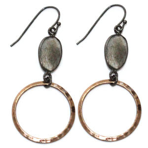 RSD Labradorite Bezel Matte Ring Earrings