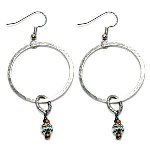 RSD Hmmrd Ring Antique Bead Earrings