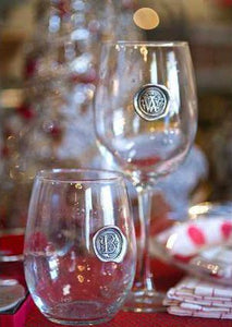 "Southern Jubilee ""Initial"" Medallion Wine Glass"