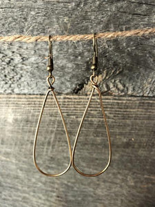 Funky Trunk Vintage Wire Teardrop Earrings