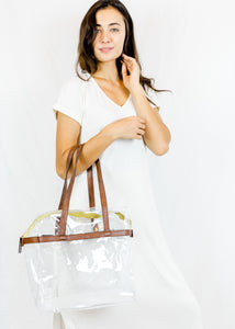 mb greene Be Clear -Tote w/ Privacy Pouch
