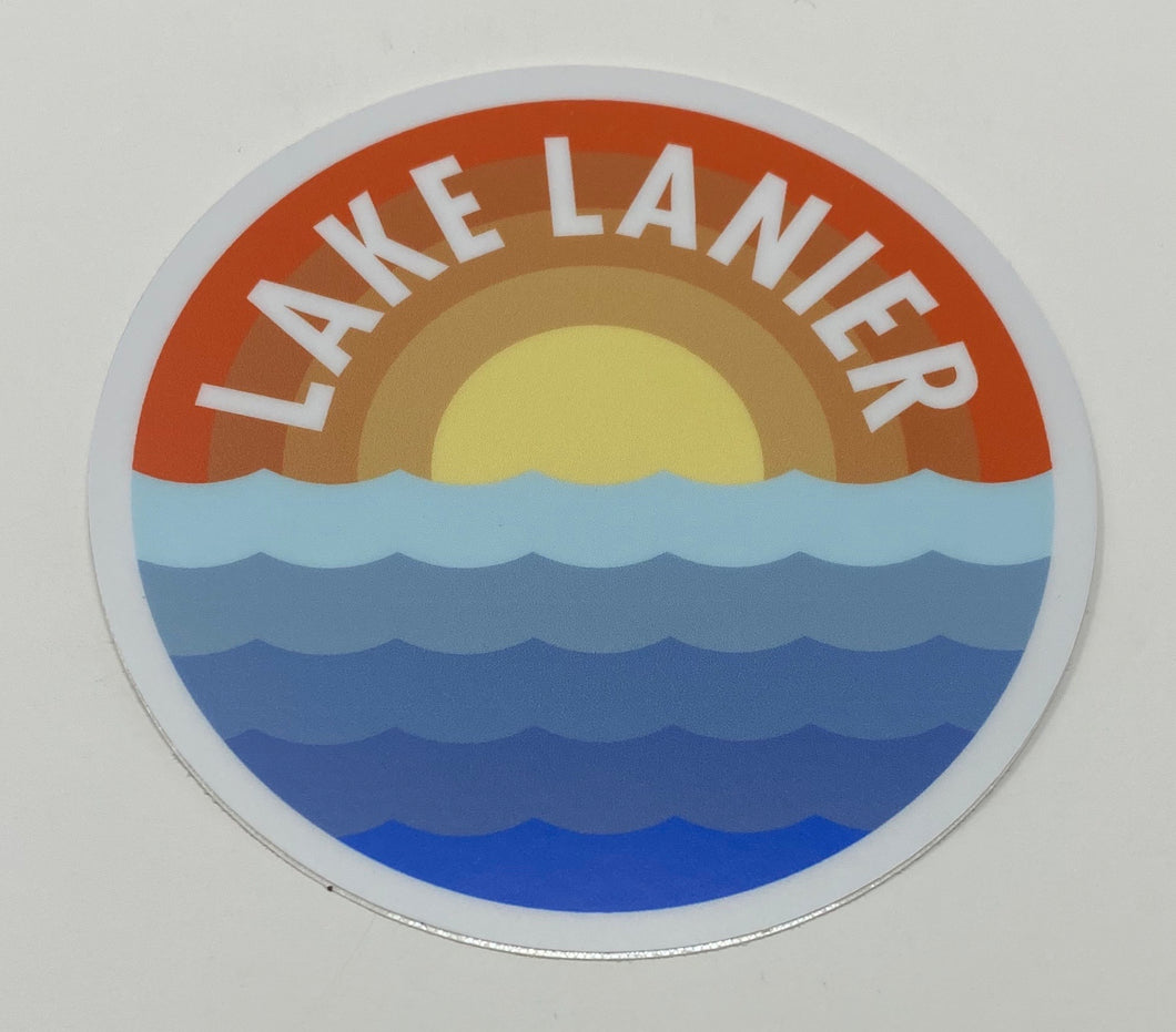 Lake Lanier Sunrise Waves Sticker