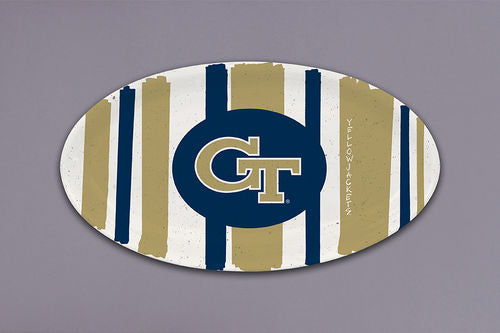 Georgia Tech Striped Melamine Oval