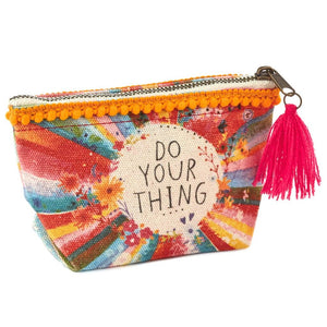 Natural Life Mini Canvas Pouch -Do Your Thing